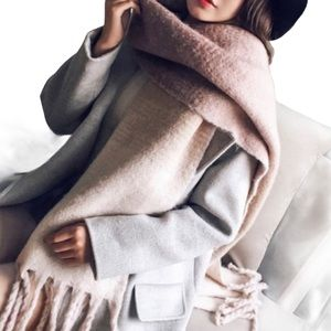 Ombre Oversized Wool Scarf